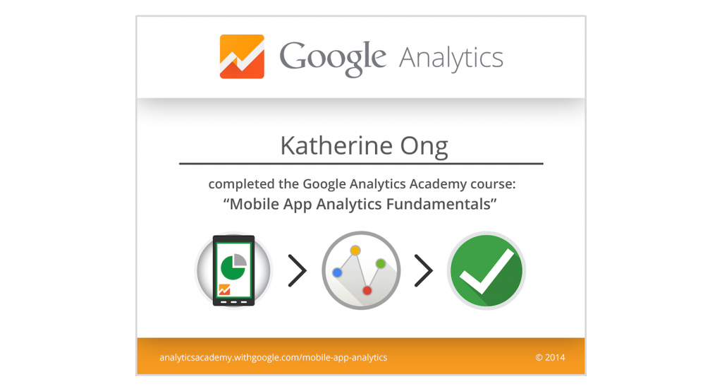 Google Analytics Certification – I passed the Mobile App Analytics Fundamentals Exam